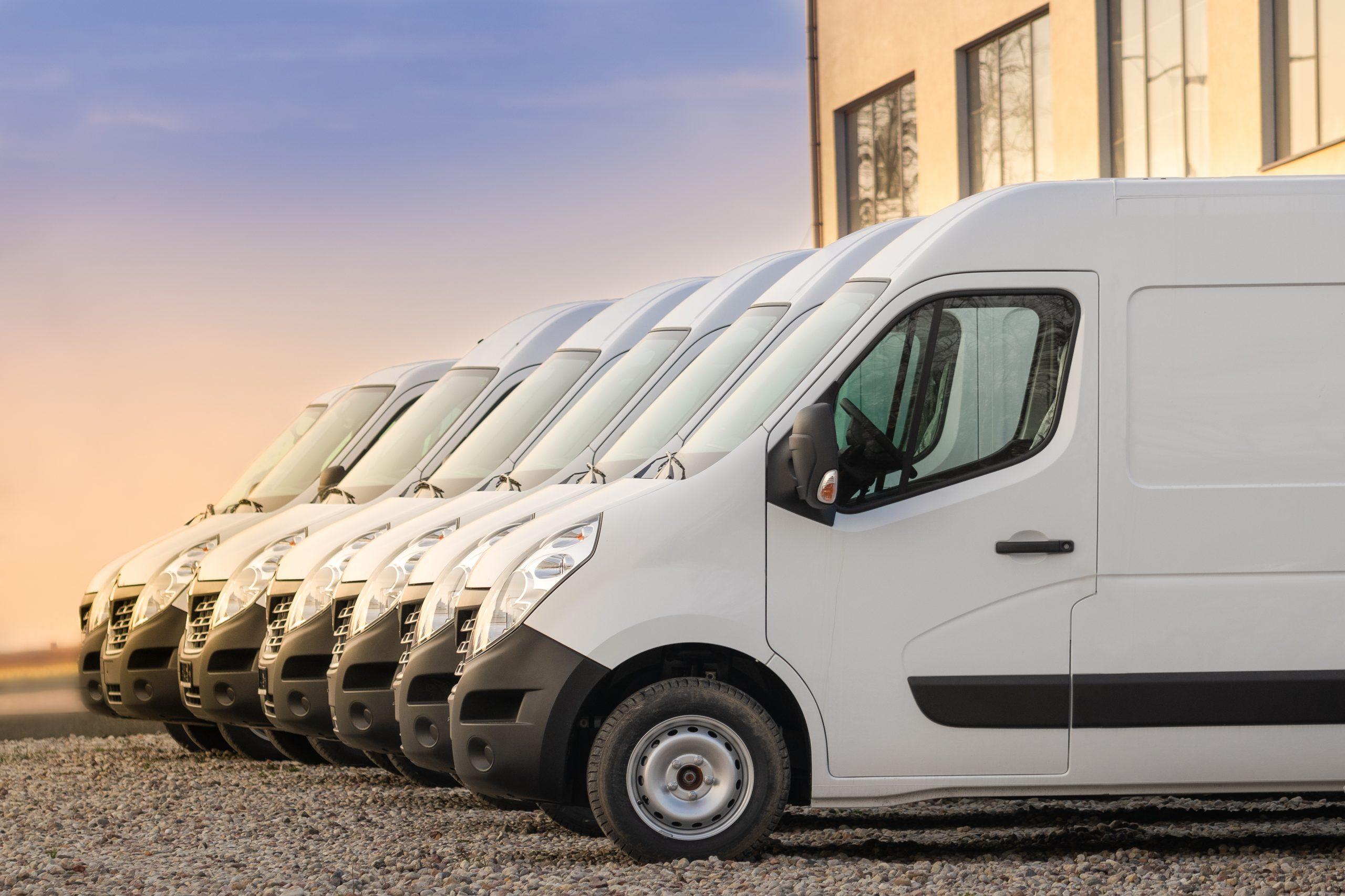 flotte de camions transporteurs