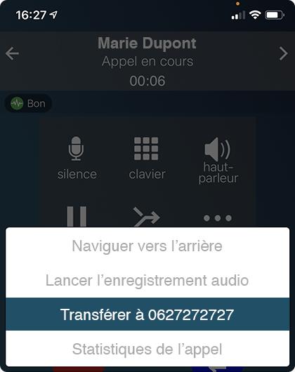 répondez, parlez, annoncez, transférez vos appels